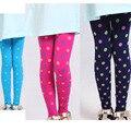Langsha marca de moda muchacha de los niños de punto de terciopelo footless medias con puntos bailan pantimedias medias opacas niños tamaños
