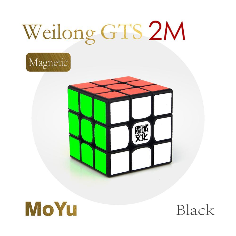 2019 nouveautés YJ8254 MoYu WeiLong GTS 2 M 3x3x3 Cube magique Puzzle jouet-noir