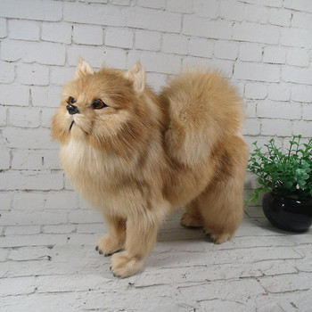 simulation cute standing pekingese 28x25x13cm model polyethylene&furs dog model home decoration props ,model gift d696
