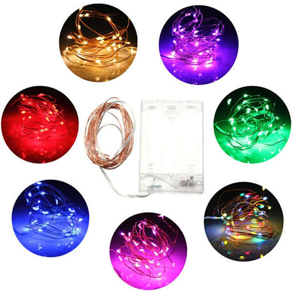 3M 30 Battery Led String Light 3 AA Battery Powered Decoration LED For Wedding Christmas,Party Garland Led Lights Outdoor Decor