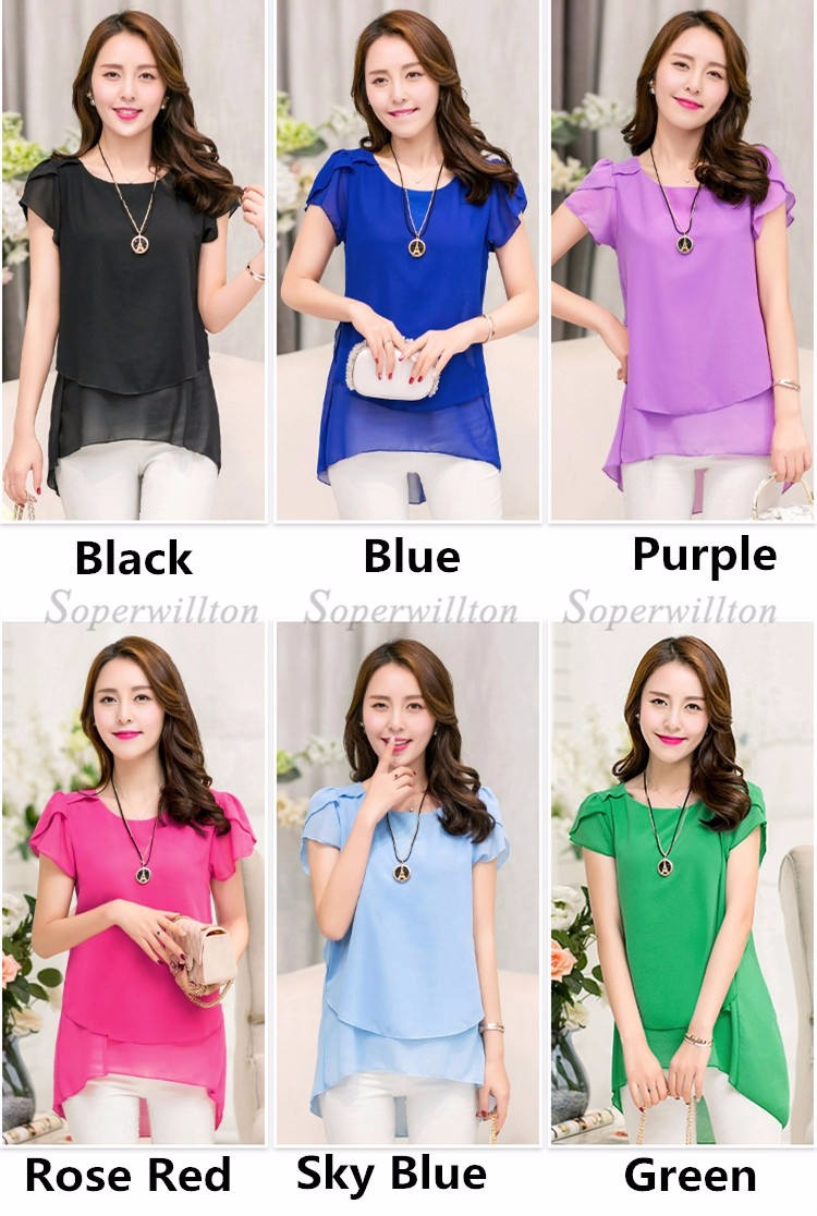 HTB1kXUPJFXXXXXFXVXXq6xXFXXXC - Soperwillton New Summer Women Blouse Loose Shirt O-Neck Chiffon Blouse Female Short Sleeve Blouse Plus Size 5XL Shirts Tops