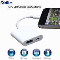 Reilim OTG адаптер для Lightning-USB 3 адаптер для камеры OTG кабель конвертер данных для iPhone iPad iPod клавиатура iOS 13 разъем