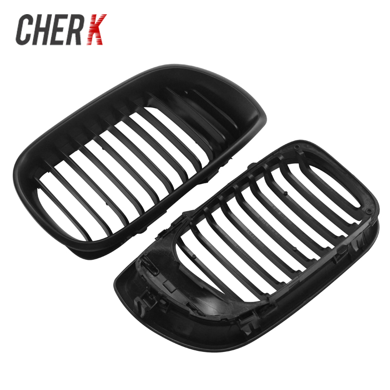 Cherk Motorcycle Parts Matte Black ABS Plastic Front Grille Grill Fit For 2002 2005 BMW 3 Series E46 318i 320i 323i 328i