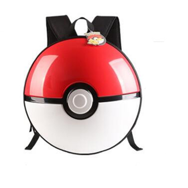 3D Pikachu Go Poke Ball PVC Shoulder Bag Schoolbag Backpack Round Ball Travelbag Lovely