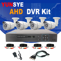 YUNSYE CCTV 4CH 720P/1080P AHD Camera Kit P2P HDMI H. 264 DVR Video Surveillance System Waterproof Outdoor Security Camera Kit