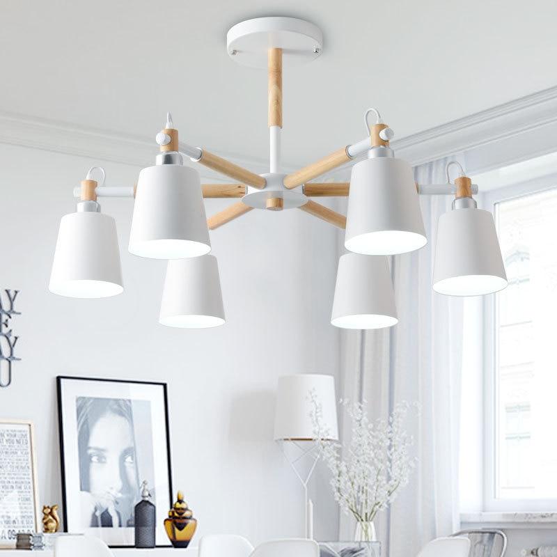 LukLoy Chandelier, Modern Kitchen Lamp Living Room Foyer Lights Kitchen Light, Wood Chandelier Lights