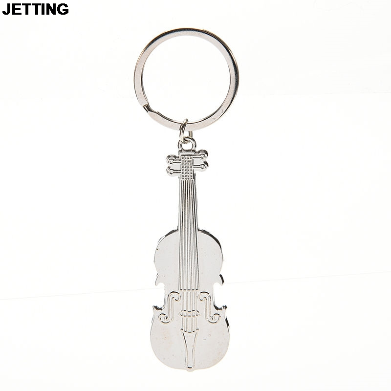 JETTING 2016 Hot Selling!!!Mini Creative Violin Charm Music Keyring Keychain Metal Key Ring Chain 1pc keychain pocket mini pliers keyring keychain metal adjustable mini vise tool