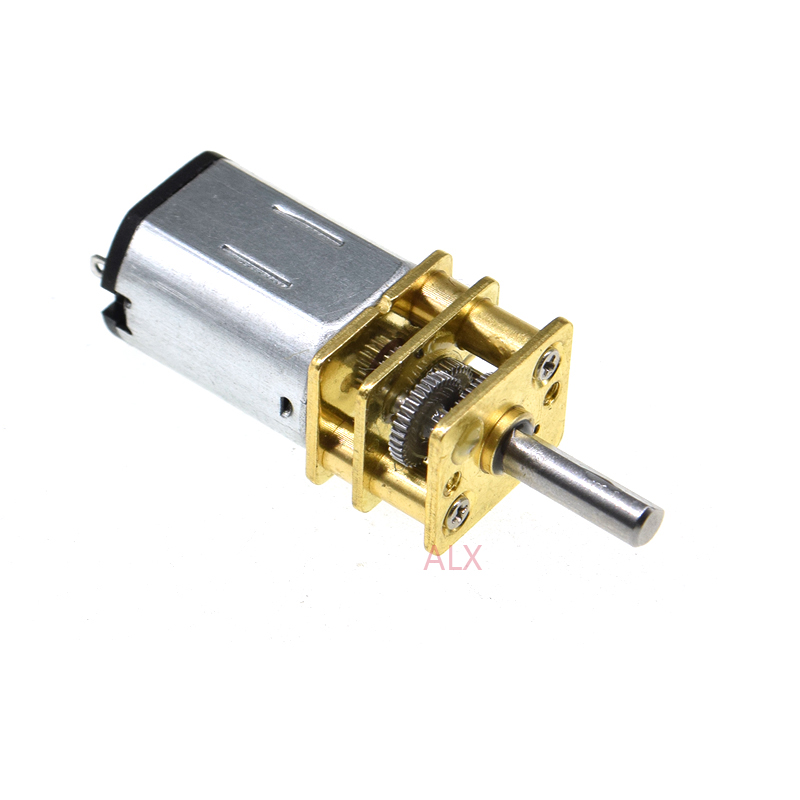 DC 6V 200RPM Micro Speed Reduction Gear Motor N20 Metal Gearbox Wheel GA12-N20