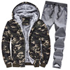 Camouflage Fleece Hoodie Outwear 2 Pieces Set 1