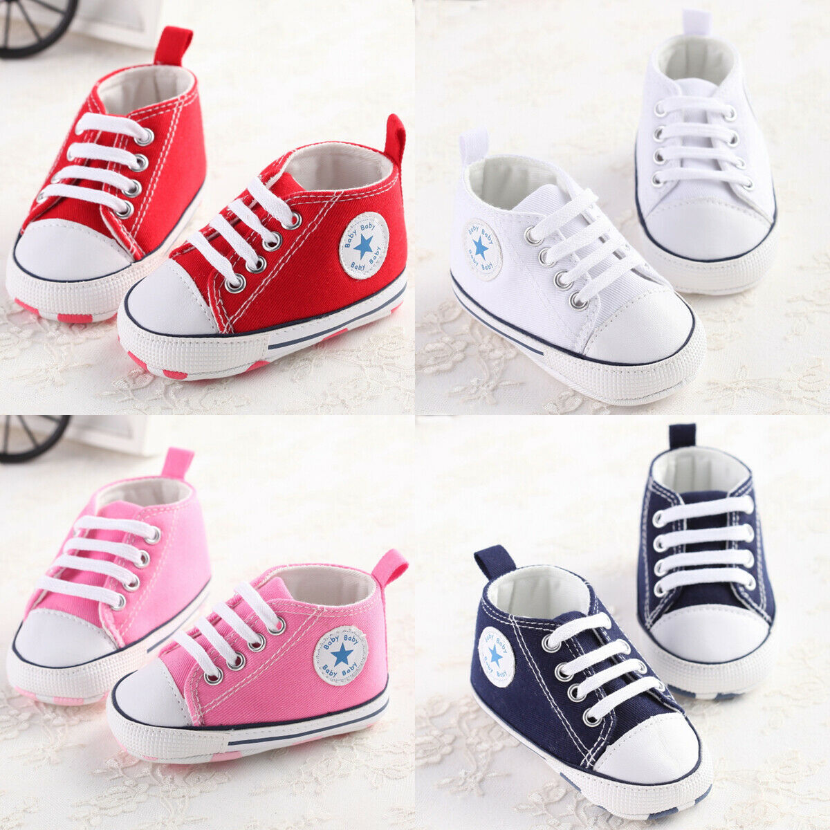Toddler Baby Shoes Newborn Boys Girls Soft Soled Girl Crib Shoes Prewalker Sneakers