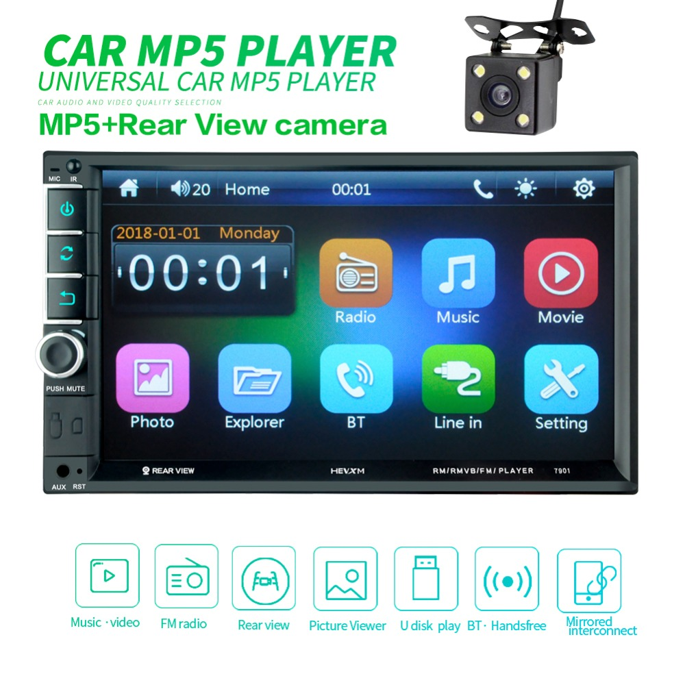2din Car Radio Android multimedia player Autoradio 2 Din 7'' Touch screen GPS Bluetooth FM auto audio player stereo image