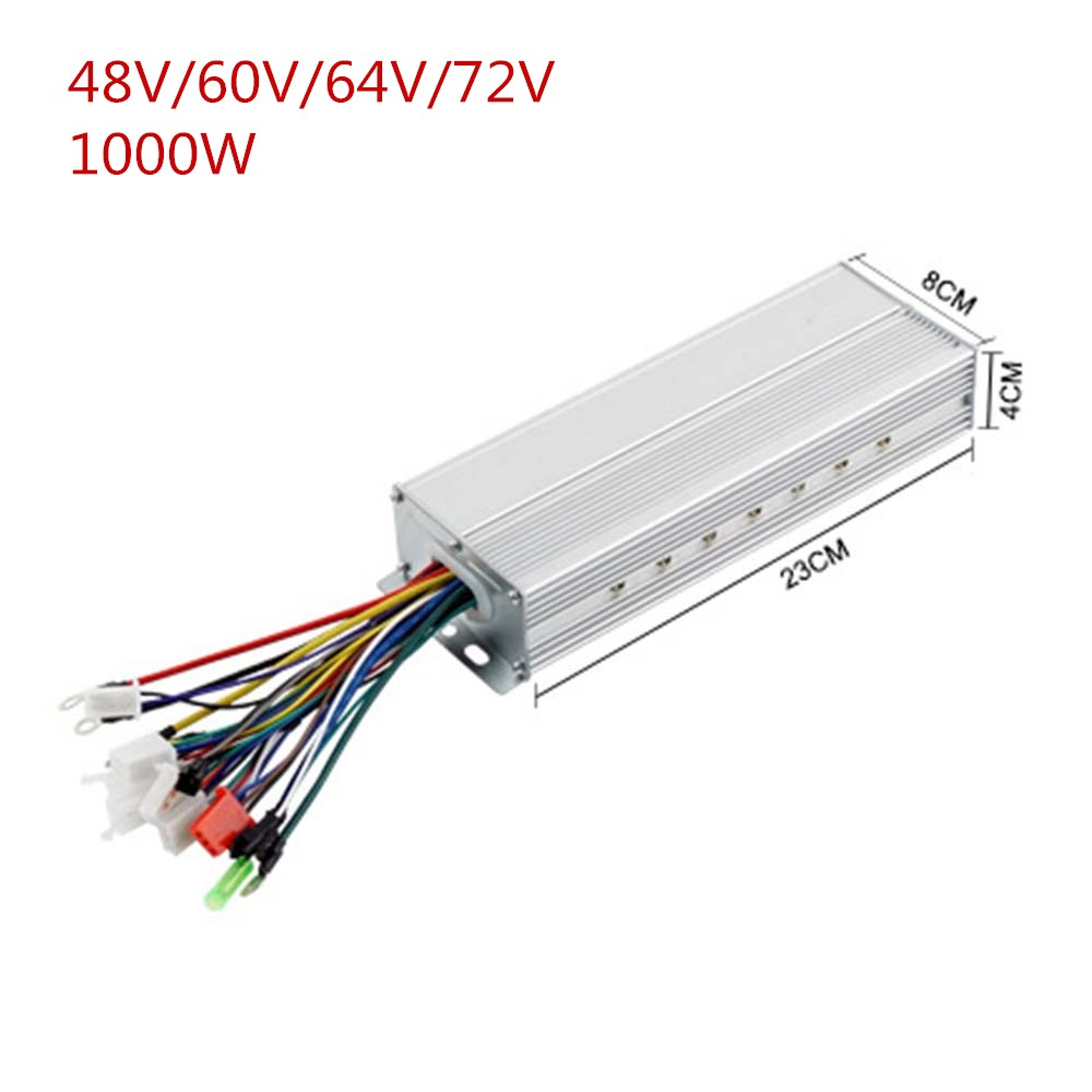 48V <font><b>60V</b></font> 64V <font><b>1000W</b></font> Brushless ebike <font><b>Controller</b></font> with Reverse work in sensor/senless for bldc motor/electric bike/Motorcycle image