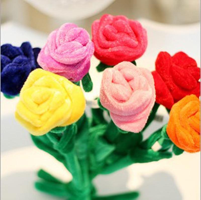 Baby plush toy sunflower curtain buckle Cartoon plush flower curtain rose The wedding birthday gift