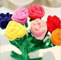 Bebê girassol cortina fivela de brinquedo de pelúcia Dos Desenhos Animados de pelúcia cortina flor rosa Do casamento & presente de aniversário