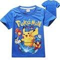 Meninos da camisa de T t-shirt das crianças da Roupa Do Bebê menino Verão camisa T Designer de Algodão Dos Desenhos Animados Pokemon Ir Tops Tees