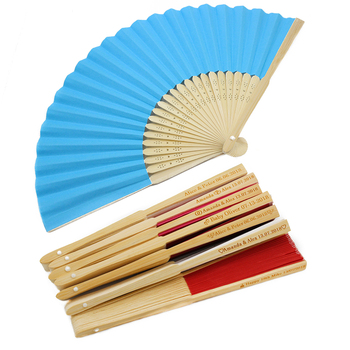 10Pcs Personalized Engraved Folding Hand Paper Fan Fold Vintage Fans outdoor Wedding Party Gift Baby Shower Favors