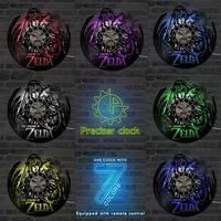 Black Hollow The Legend Of Zelda CD LED Record Clock Gift For Gamer Creative Vinyl Record