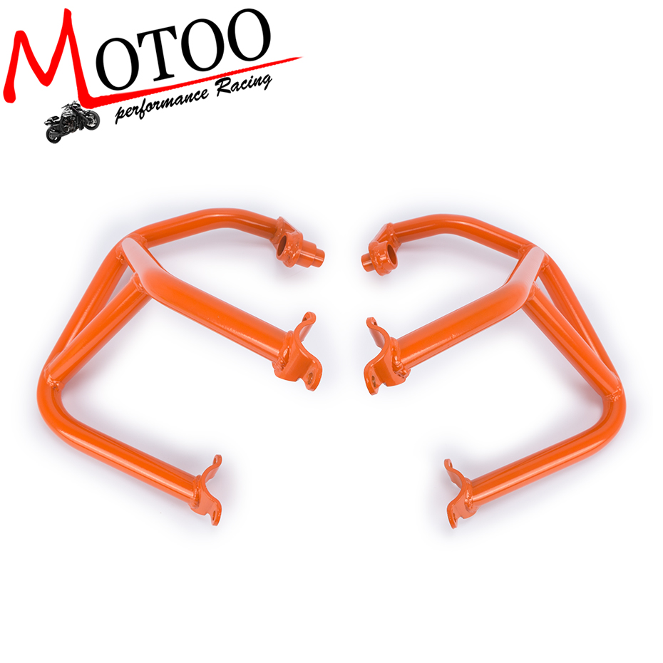 Motoo- Motorcycle Refit Tank Protection Bar Protection Guard Crash Bars Frame For KTM DUKE 690 DUKE690 2013-2017 for ktm 390 duke motorcycle leather pillon passenger rear seat black color