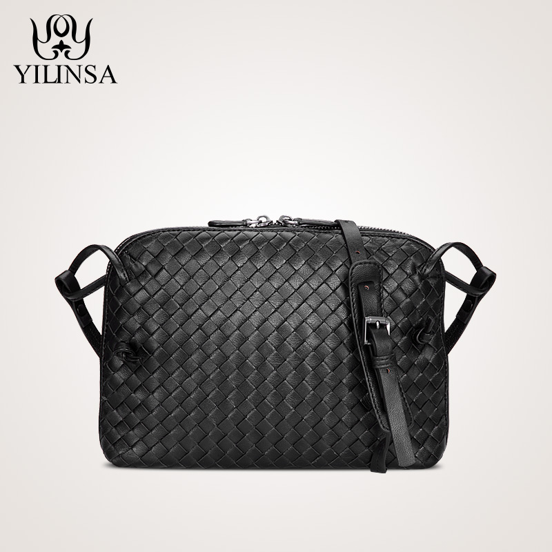Sheepskin Woven Luxury crossbody bags Women Girls messenger Handmade Designer Top Quality lambskin Bags