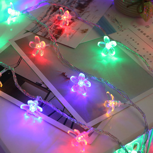 Image 4 - 桜の花花輪バッテリ駆動ledストリングの妖精ライトクリスタル花屋内結婚式のクリスマスデコレーション紫