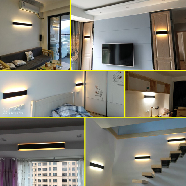 LED Wall Lamp Dimmable 2.4G RF Remote 5