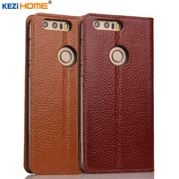 Case For Huawei Honor 8 KEZiHOME Genuine Leather Flip Stand Leather Cover For Huawei Honor 8