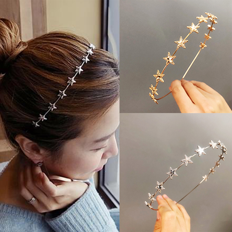 Buterfly Animal 1Pc Golden Silverstar Leaf Alloy Headband Hair Accessories,4