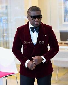 Image 1 - חתונה חליפות גברים שושבין 2018 חדש 2 pieces סט סגול טוקסידו פורמליות Slim Fit גברים חליפות עם מכנסיים תלבושות Homme