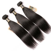 Yavida Indian Hair Bundles Non-Remy Straight Human Hair Weave Bundles Double Weft Virgin Hair Extensions Wholesale Lots Bulk(China)