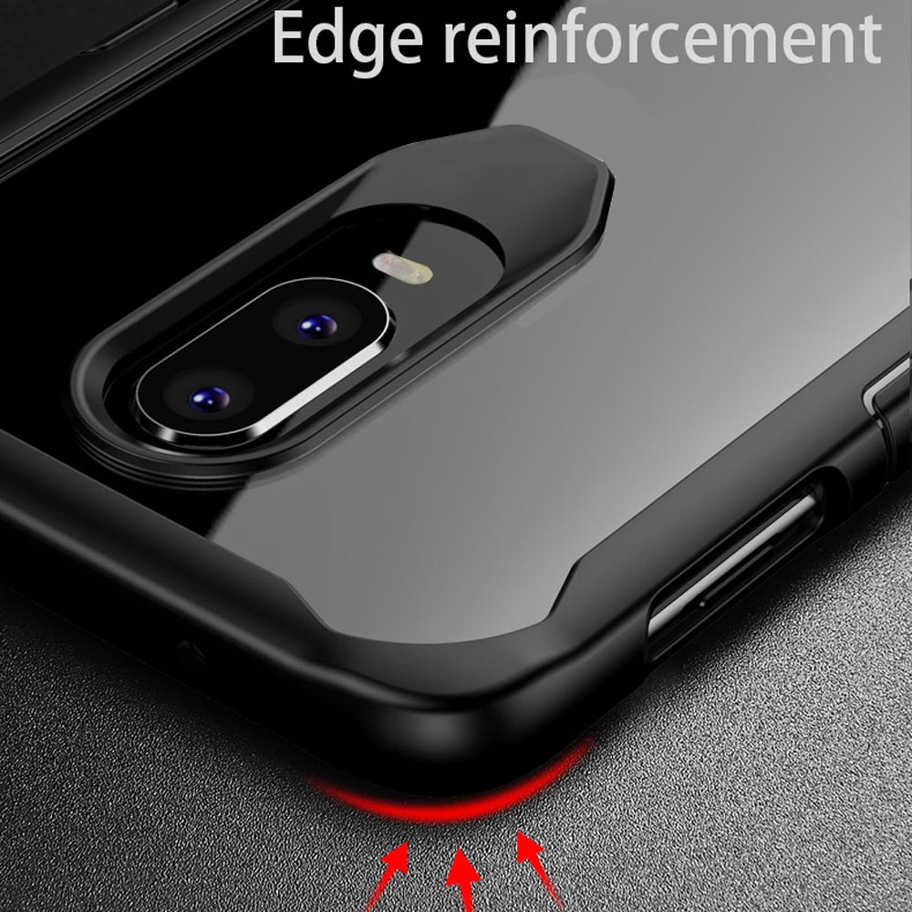 Phone Case for OnePlus 7 Pro Case Transparent Acrylic TPU Soft Silicone Clear Bumper Cover for OnePlus 6T 7T 7 Pro 6 Accessories