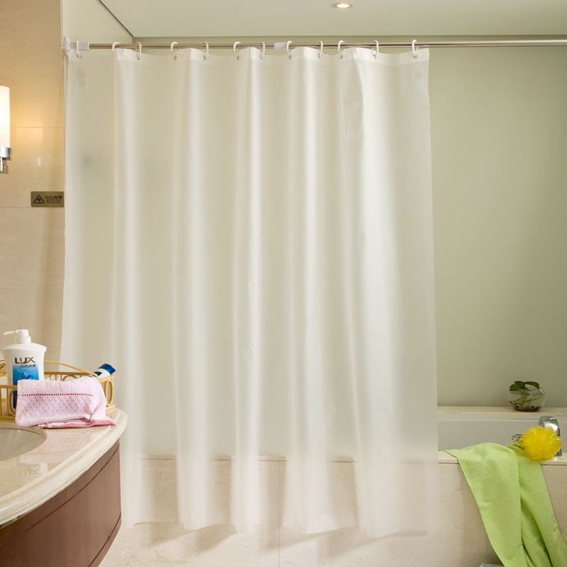 White bathtub Bathroom Fabric Shower Curtain Waterproof and Mildewproof With Plastic Hooks Bathroom Use can Drop Shipping