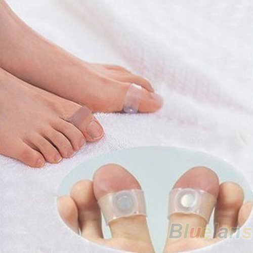 2 stuks Silicone Magnetic Voetmassage Toe Ring Duurzaam Keep Afslanken Gezondheid Cirkel
