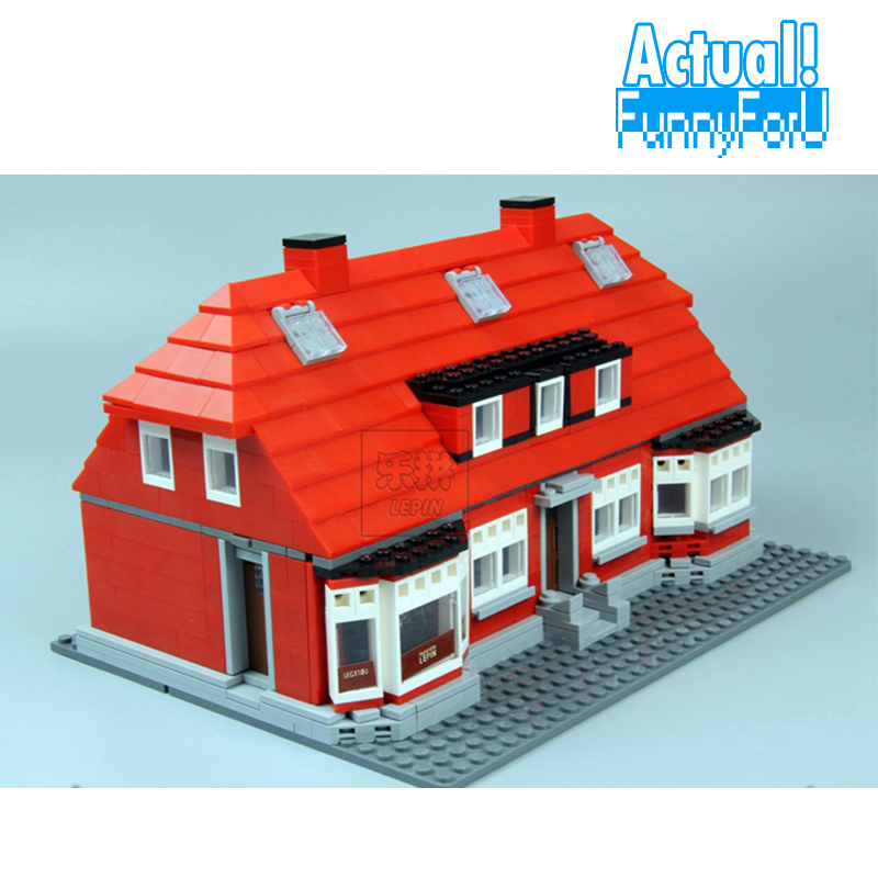 Lepin Creator Home 17006 928Pcs The Red House Set Model 4000007 Building Kits Blocks Bricks Educational toys For Children Gifts a toy a dream lepin 15008 2462pcs city street creator green grocer model building kits blocks bricks compatible 10185
