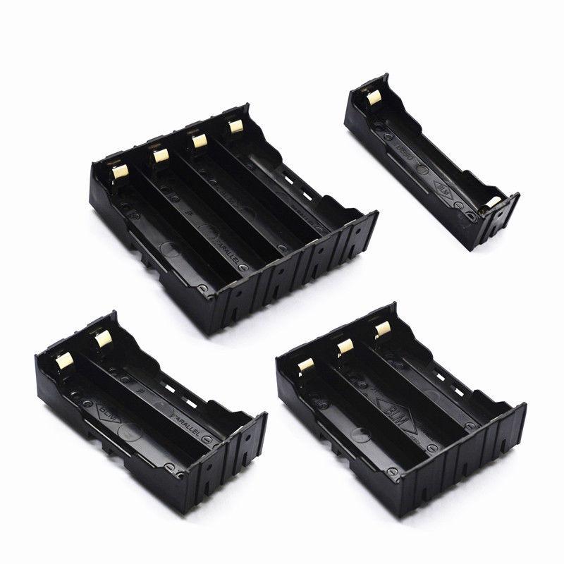 Caja de almacenamiento de soporte de batería de 18650 1x2x3x4x18650 DIY alfileres de alambre abierto Envío Directo