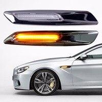 2Pcs Car Styling LED Side Marker Light Fender Turn Signal Lamp For BMW E81 E82 E87