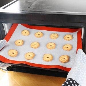 Non-Stick Silicone Baking Mats Cookie Pad Rolling Dough Mat High Temperature Resistant Glass Fiber Batters Flour Fondant(China)