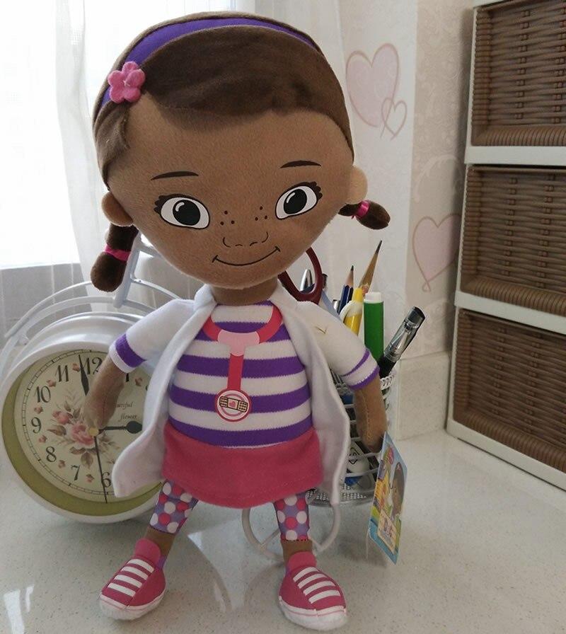 Бесплатная доставка 32 см 12,6 оригинальный Doc McStuffins плюшевые мягкие игрушки, дотти девочка кукла для детей и подарок для малышей ...