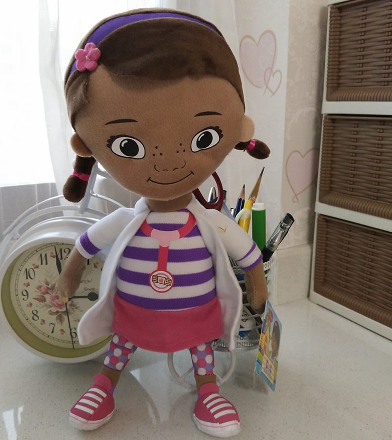 Free Shipping 32cm 12.6 Original Doc McStuffins plush soft toys,Dottie girl doll for Chi ...