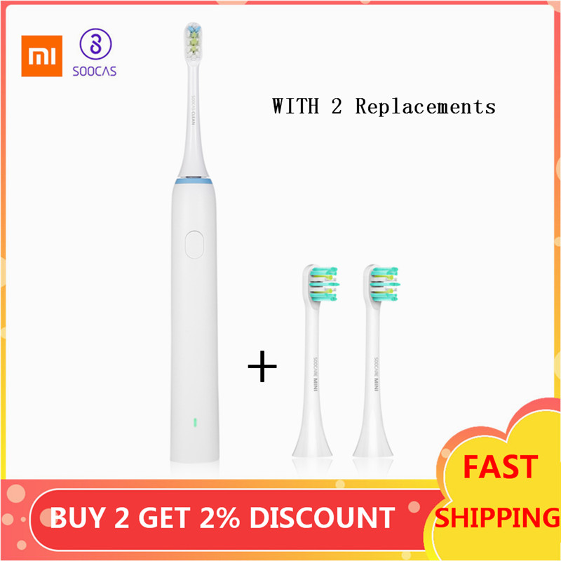 XIAOMI SOOCAS X1 Sonic Toothbrush Set With 2 Brush Head Waterproof Rechargeable Ultrasonic Tooth Brush Adult Dental Health Care