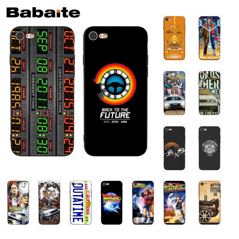 Babaite Terug Naar De Toekomst Delorean Tijd Machine Patroon Zachte Telefoon Case Voor Iphone 8 7 6 6 S Plus X Xs Max 5 5 S Se Xr 10 Gevallen