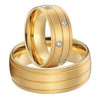 Luxus Benutzerdefinierte Paar titan stahl schmuck große hochzeit ringe set für männer und frauen 2015 neue gold farbe allianzen anel