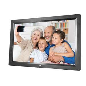 Digital-Photo-Frame Led-Screen Electronic-Picture-Album Multi-Language 17-Inches HD Touch-Buttons