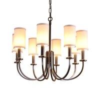 Nordic lustre rustic black chandelier lighting Modern led light chandeliers ceiling vintage candlestick Dining Room lamp