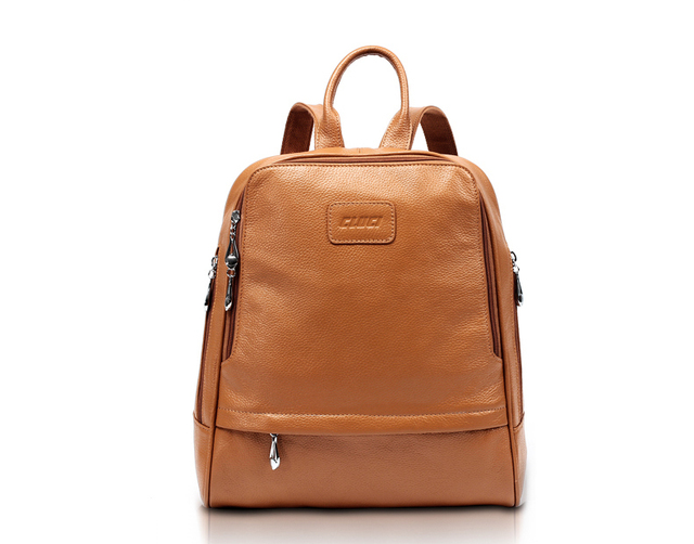 Fashion Leather School Bag Genuine Leather Women Backpack Cow ...