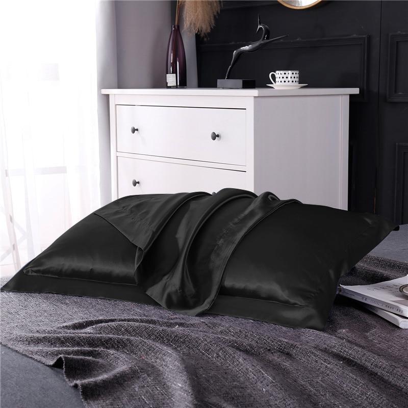 SLOWDREAM Luxury 100 Nature Silk Healthy Pillowcase Pink Euro 48X74cm Home Textiles Bedding Set Bedspread Pillowcase Bedclothes in Pillow Case from Home Garden
