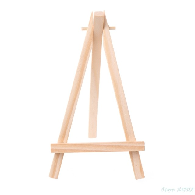 1pc Mini Wooden Tripod Easel Display Painting Stand Card Canvas Holder Wedding Party