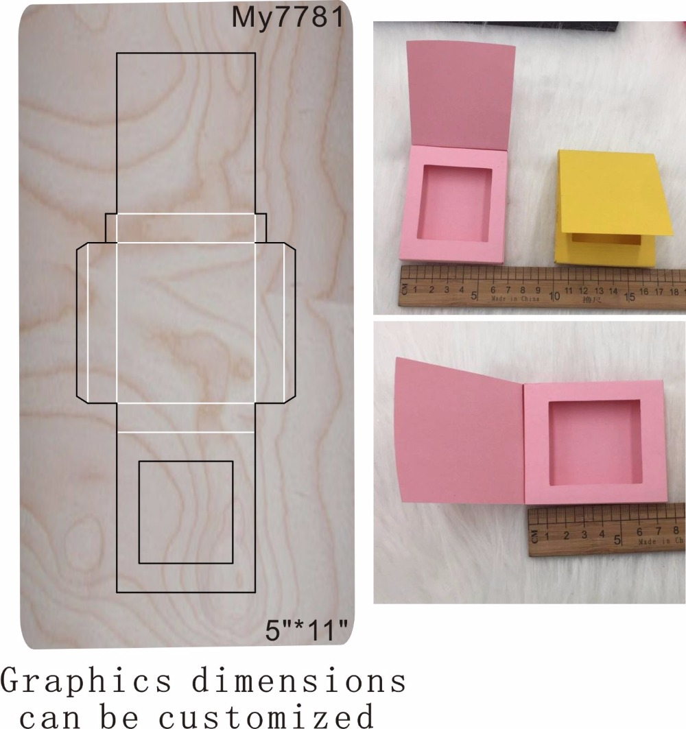Chocolate box new wooden mould cutting dies for scrapbooking Thickness 15 8mm