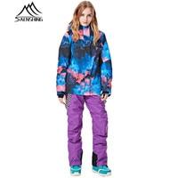 Snowboarding Suits Women Winter Ski Suit Waterproof Thermal Snowboard Jacket Ski Pants Breathable Snow Suit Outdoor Ski female