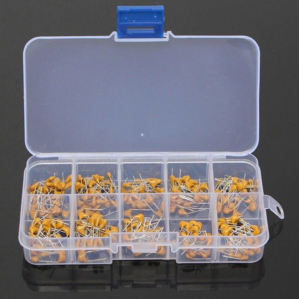 300pcs 10Value 50V 10pF To 100nF Multilayer Ceramic Capacitor Assortment Kit