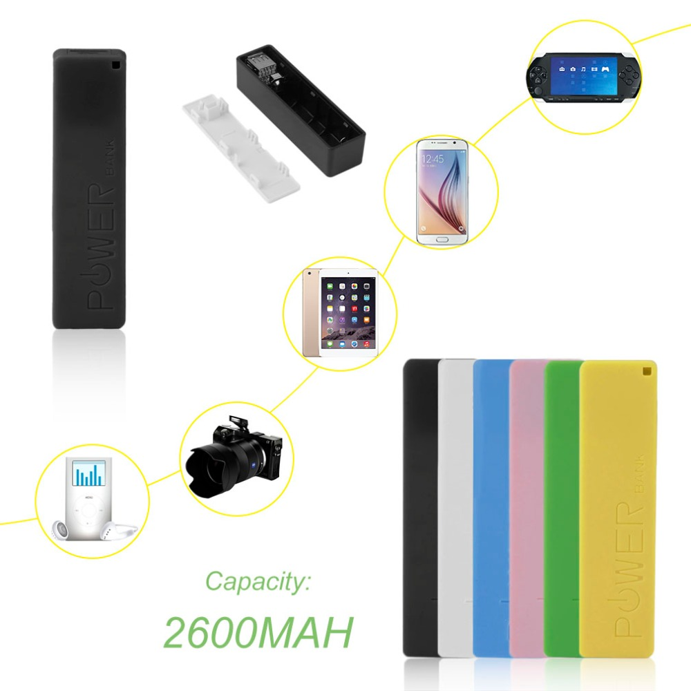 2600mAh Portable Size No Battery Powerbank 1*18650 Battery External Backup Battery Charger Power Bank Case For Smart Phone
